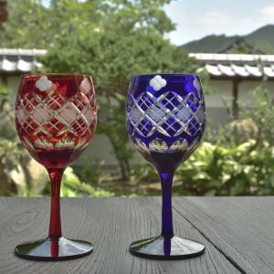 江戸切子のワイングラス