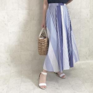 【新入荷/セレクト品】夏のストライプスカートと、ゆったりナチュラルなワンピース