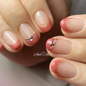 くすみピンクのフレンチ♡        葛飾区ネイルサロン アンドリリ