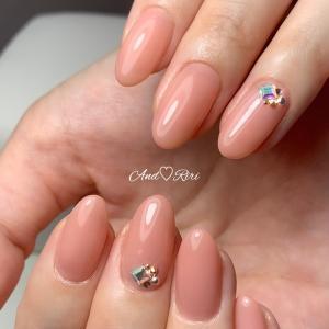爪の健康を保ちながらジェルネイル♪美肌ワンカラー  葛飾区ネイルサロン アンドリリ