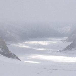 世界遺産のアレッチ氷河