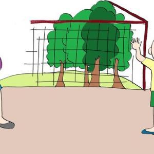 格助詞⑫「公園を でます」起点「で」