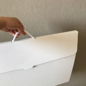 白くてシンプルな作品収納ケースを買って、子どもの作品整理をしました!