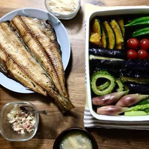 【おうち居酒屋】贅沢三昧しています。家で楽しめる美味しい干物と夏野菜たっぷりメニュー!【夏休みの夕飯記録】