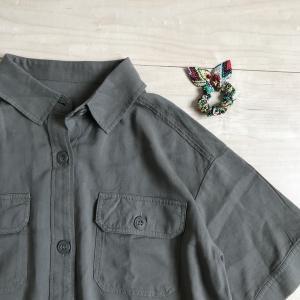 【ママの服】夏の服、追加!!スッキリ見えるシャツワンピース(グローバルワーク) と 夏にぴったりな小物♪