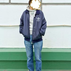 【コーデ】古着アディダスコーデ