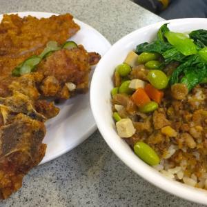 """台北""""金園排骨分店"""" 西門の地下街でカリカリチキンを食べる"""