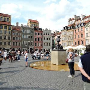 2019年夏ポーランド旅行 首都ワルシャワ3 王宮・旧市街市場