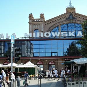 2019年夏ポーランド旅行 首都ワルシャワ4 バルバカン・ミロヴスカ市場