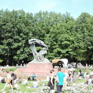 2019年夏ポーランド旅行 首都ワルシャワ7 蜂起博物館・ワジェンキ公園ショパン・コンサート