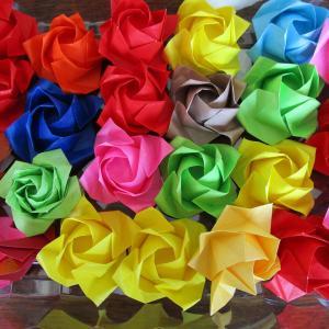 家で手作り みかんゼリー・折り紙で立体の薔薇・餃子