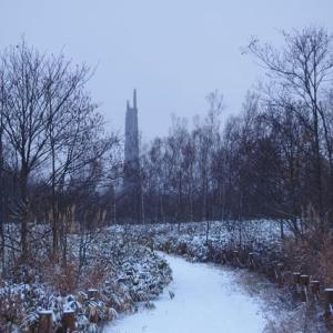 雪景色と持続可能な生活と