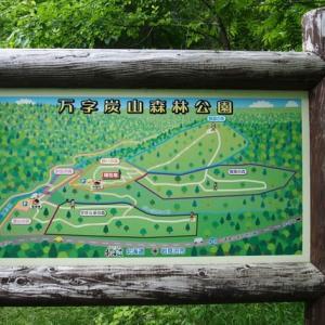 栗沢町の万字炭山森林公園へ