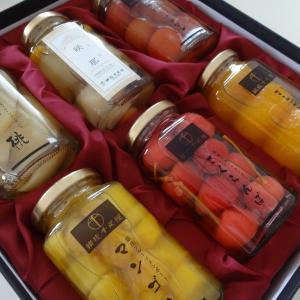 千疋屋のシロップ漬け果物たち