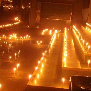 2019 ミャンマー瞑想道場ジプシー日記 221日目 雨安吾終了とロウソク祭り 10月14日(月)