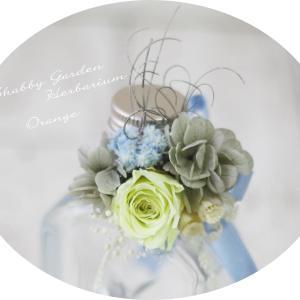 可愛い♡ライトブルーのShabby Gardenハーバリウム♡
