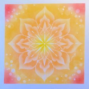 おひさま色の曼荼羅アート