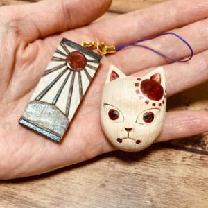 鬼滅の刃★炭治郎のお面と耳飾りの製作