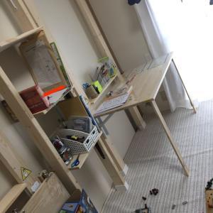 子供の棚と学習机はこんな風に作りました