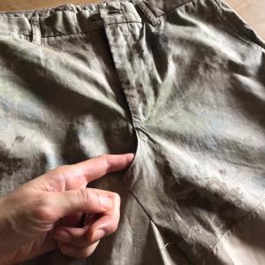 クレイジーパッチワークのリメイクスカート、完成♪