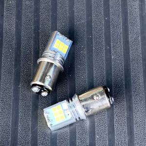 スバルサンバーの電圧降下対策でLED化。