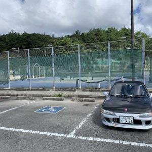 緊急事態宣言でしばらくできなかったテニスの練習に。