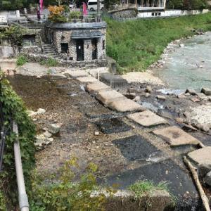 【四万温泉 河原の湯】★4 群馬県中之条町 共同浴場