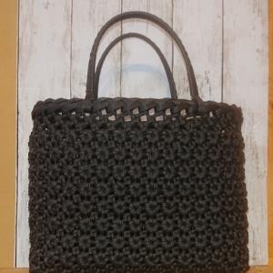エコクラフト 4本花結び編みかごバッグ