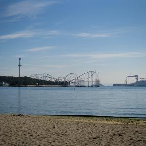 海の公園にて