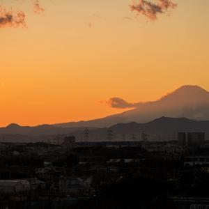 富士 夕景