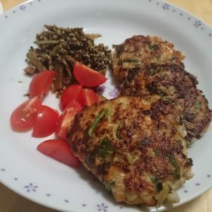 【レシピ】鶏肉ハンバーグ。