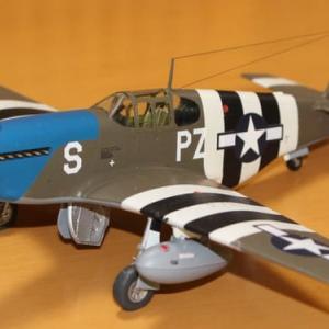 """1/48 P-51B """"Blue Nose"""" その9(完成)"""