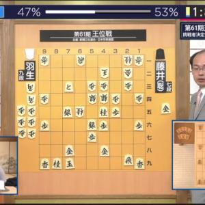 第61期王位戦挑戦者決定リーグ白組 藤井聡太七段vs羽生善治九段