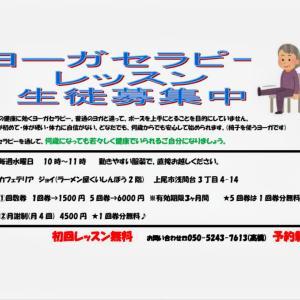 埼玉県上尾市で椅子ヨーガセラピークラス開講します