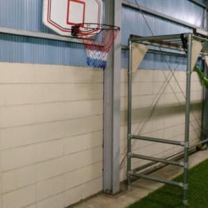 バスケットのゴールをつけなおしました〜高さを3段階で変更可能な仕様に改良を〜