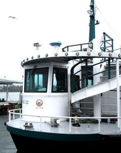 丹後海陸交通一の宮桟橋のウミネコ