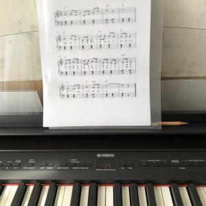 ピアノの練習に、挑戦!