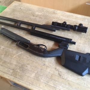 M870 カンチレバーマウント付きスムースボア銃身