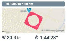 ランニング(20190818) 今日は20キロ