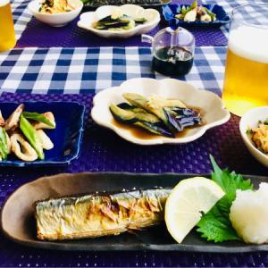 秋刀魚の塩焼きと節約仕様の副菜!