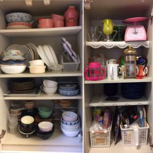 キッチンの食器棚の「幸せ収納」