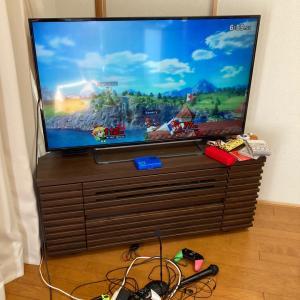 テレビ周りのゲームグッズの片づけ