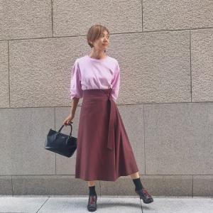 去年のウールスカート、今はこんな風に着てみました♪