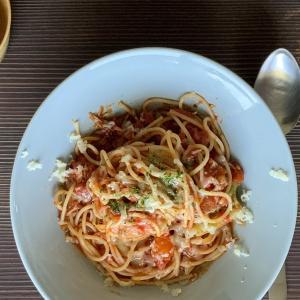 ブロッコリとジャコのトマトソースパスタ