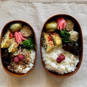 肉入り卵焼き弁当と、まるちゃんコクの一滴 香味担担麺