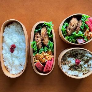メンチカツ弁当と刀削麺(牛肉酸辣麺)