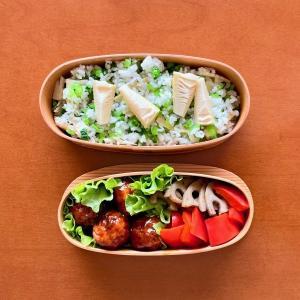 タケノコと大根葉の混ぜご飯弁当