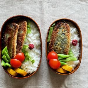 イワシのパン粉焼き弁当、白樺山荘(札幌ラーメン)