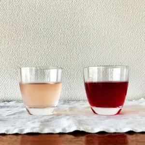 青しそジュース、赤しそジュースとアイロン