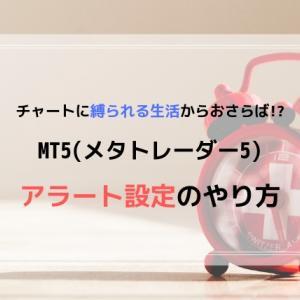 【図解】MT5のアラート設定のやり方